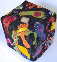 FOOT STOOL In the KLIMT Style