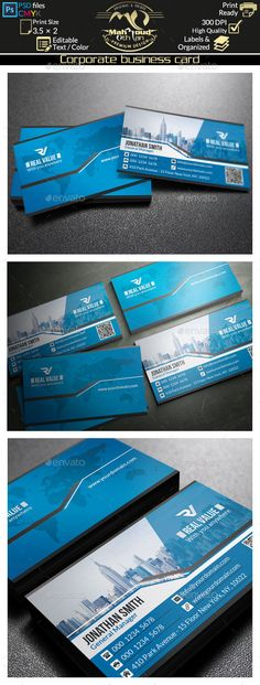 Modern Blue Business Card Template PSD | Buy and Download: http://graphicriver.net/item/modern-blue-business-card-45/8934880?WT.ac=category_thumb&WT.z_author=far_star60&ref=ksioks