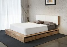 Diy Platform Bed with Storage Drawers - Diy Platform Bed with Storage Drawers , Diy Bed Diy Platform Bed with Storage Nifty Ideas Platform Bed With Storage, Diy Platform Bed, Platform Bedroom, Floating Platform, Black Platform, Home Bedroom, Bedroom Furniture, Bedroom Decor, Smart Furniture
