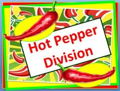 Hot Pepper Division- Electronic Flashcards- This set of 'electronic' flashcards has 265 PowerPoint slides. It covers the division facts from 1 ÷1 to 144÷12. The problem is displayed on the screen and with the click of the mouse (or space bar) the answer will appear. This is an excellent activity that can be used individually on a computer or as a class with a projector. Students love to race each other when playing games such as Around the World.