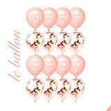 LE Ballon Premium Elegant Instagram/Pinterest Famous Giant 18 Rose Gold Foil Confetti Balloons 16 Pieces for Bridal Shower Wedding Baby Shower Sweet Sixteen Birthday Valentines Day (Rose Gold)