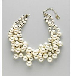Erica Lyons® Crystalline Pearl Statement Necklace