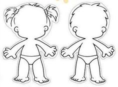 Human body outline for kids Classroom Activities, Preschool Activities, Body Preschool, Daycare Crafts, School Worksheets, Free Coloring Pages, Colorful Pictures, Pre School, Paper Dolls