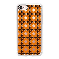 Orange Pattern Geo - iPhone 7 Case, iPhone 7 Plus Case, iPhone 7... ($15) ❤ liked on Polyvore featuring accessories, tech accessories, iphone case, iphone cases, pattern iphone case, print iphone case, iphone cover case and apple iphone case