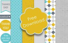 Free Printable Father's Day Papers with Craft Tutorial