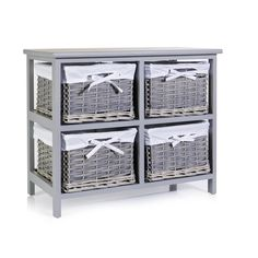 Wilko 4 Drawer 2x2 Unit Grey Willow