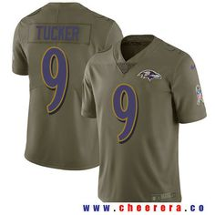 Men's Baltimore Ravens #9 Justin Tucker Olive 2017 Salute To Service Stitched NFL