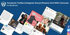 Download Facebook,Twitter,Instagram Social Streams Grid With Carousel for WordPress Nulled Latest Version