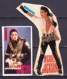 MICHAEL JACKSON 5 RARE BRAVO VINTAGE OLD STICKERS MUSIC R16167