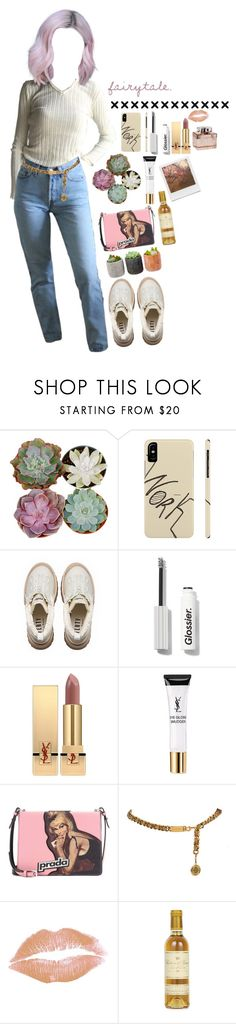"""""""47587548"""" by dindonlarisa ❤ liked on Polyvore featuring Puma, Yves Saint Laurent, Prada, Shop Succulents and Impossible Project"""