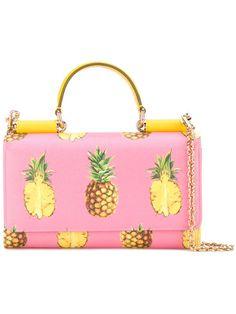 pineapple print crossbody bag
