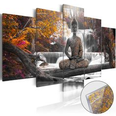 murando Canvas Wall Art 200100 cm/ Non-woven Canvas Prints Image Framed Artwork Painting Picture Photo Home Decoration 5 pieces buddha nature waterfall landscape tree forest rose orange Canvas Picture Walls, Canvas Pictures, Pictures To Paint, Canvas Wall Art, Canvas Prints, Princess Wall Art, Images Murales, Buddha Wall Art, Buddha Zen