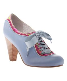 Look at this Light Blue Backlash Leather Pump on #zulily today!
