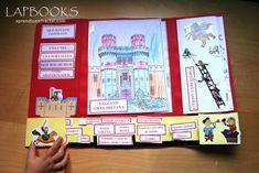 Lapbook Los Castillos 4 School Projects, Homeschool, Castle, File Folder, Art, Making Books, Medieval Castle, Sensory Book, Prehistory