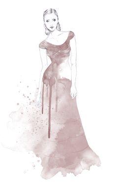 Watercolour fashion illustration - Nina Skarra dress drawing // Esra Roise