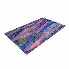 "Ebi Emporium ""Marble Idea! - Lavender Pink"" Purple Geological Woven Area Rug"