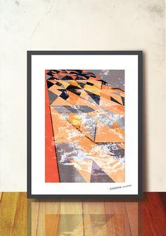 Abstract Geometric Poster Geometric Tangram by TANGRAMartworks