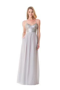 Bari Jay -  238.00 Sequin camisole bodice with spaghetti straps and an  a-line Luxe 5797a6bbea61