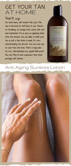 I've tried many self tanners this year. Easy to use. There's no streaking, no orange tone. Leave skin soft and moisturizer. It's as easy as applying lotion after the shower. Can use daily to build your tan or just a few times Diy Beauty, Beauty Skin, Health And Beauty, Beauty Hacks, Beauty Tips, Natural Self Tanners, Self Tanning Lotions, Best Self Tanning Lotion, Types Of Manicures