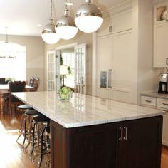 White Carrera Quartz Kitchen Kitchen Countertops