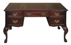 Hekman Furniture Writing Desk in Special Reserve Finish - 7-1203 by Hekman. $957.60. Fluted Chamfered Corners.. Drop Front Center Drawer with Keyboard Pull-Out and Wrist Rest.. Dark Brown Leather Top, with Gold Leaf Design.. Carved Cabriole Leg with Claw on Ball.. Four Drawers, Includes One File Drawer on Metal Slides.. Writing Desk in Brighton Finish Companies who rightfully take pride in their longevity and success share a history replete with unparalleled integri...