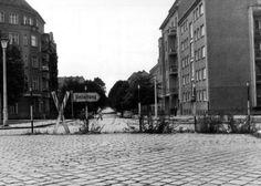 1961t Lohmühlerstrasse / Hazerstrasse vanaf Lohmühlerbrücke,(Landesarchiv Berlin, Peter Kühnappel)-50-