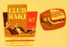 CLUB RAKI export ve KULÜP RAKI ,5cl etiketleri