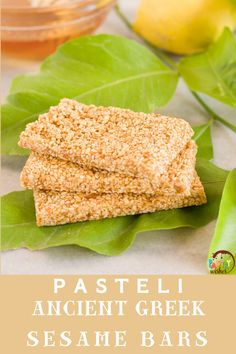 These deliciious sesame bars have been a part of the Greek culinary tradition since ancient times! You only  need 2 ingredients to make this nutruitious, ancient Greek superfood known today as Pasteli! Honey Dessert, Best Honey, Greek Desserts, Incredible Recipes, Non Stick Pan, Sweet Cakes, 2 Ingredients, Ancient Greek, Superfood