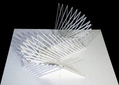 Paper Pop-Up Cards by Peter Dahmen Concept Models Architecture, Paper Architecture, Movement Architecture, Building Architecture, Kirigami, Cardboard Sculpture, Art Sculpture, Paper Sculptures, Up Book