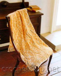 Палантин из меланжевой пряжи - Вязание Крючком. Блог Настика. Схемы, узоры, уроки бесплатно