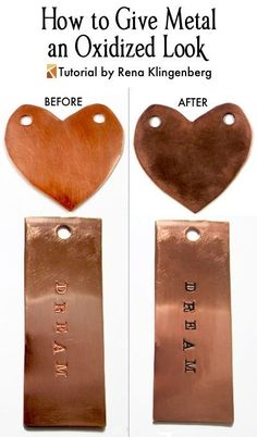How to Give Metal an Oxidized Look - Tutorial by Rena Klingenberg