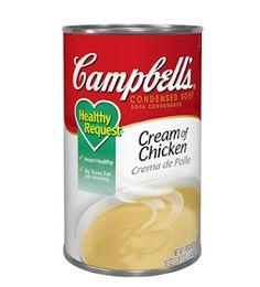 Homemade Cream of Chicken Soup Recipe  1 1/2 cups chicken broth  1/2 teaspoon poultry seasoning  1/4 teaspoon onion powder  1/4 teaspoon garlic powder  1/8 teaspoon black pepper  1/4 teaspoon salt (or less; taste to test)  1/4 teaspoon parsley  dash of paprika  1 1/2 cups milk  3/4 cup flour (can substitute gluten free flour)