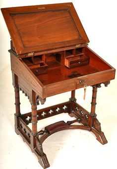 Antique American Kimbel and Cabus Aesthetic Movement Gothic Desk Secretary 1875 | eBay