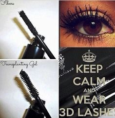 Keep Calm & Wear 3D Fiber Lash Mascara!Get yours today! These are perfect for the hot summer days you'll be spending at the beach/pool because thier also water resistant! Fun in the sun with amazing lashes #makeup#mua#makeuplover#makeupaddict#makeupartist#makeupjunkie#beauty#beautybloggers#fashion#style#instlove#instalikes#instamakeup#instaglam#glam#summer#ilovemakeup#2k14#summer#longlashes#3dfiberlashmascara#mascara#mascaraaddict#funinthesun