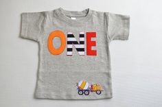 Boys Construction Birthday Shirt 1st Birthday by TheColorfulYears, $30.00