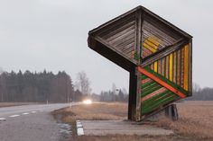 """The Surreal Beauty of Soviet Bus Stops: """"In remoter parts of the country, bus shelters mattered even more than buses, providing convenient places for people to gather, drink and socialise."""