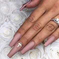 Long Nude Ballerina Nails. The popularity of ballerina nails keeps increasing every season. Even though mani fashion is changing all the time, this trend stays around, and we are happy it is. This nail shape works better for longer nails. But as for the colors, there is no limit. See our gallery with trendy designs. #nail #naildesigns #ballerinanails