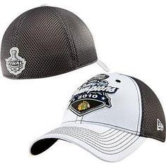 2908e5362edaa New Era NHL Chicago Blackhawks Black White 2010 NHL Stanley Cup Champions  Official Locker Room 39THIRTY Flex Fit Hat