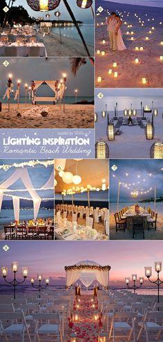 Creative ideas for how to apply lighting and candles at a beach wedding #beach #wedding #destinationweddingplanner