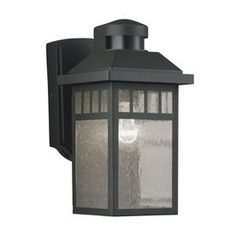Portfolio�11.5-in H Black Motion Activated Outdoor Wall Light $47.95 at LOweS