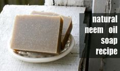 Neem Oil Soap Recipe - This handmade cold process soap is perfect for those with skin issues like Eczema, Psoriasis and Seborrheic Dermatitis. Deli News, Neem Oil, Argan Oil, Homemade Soap Recipes, Lotion Bars, Handmade Soaps, Diy Soaps, Cold Process Soap, Homemade Beauty Products