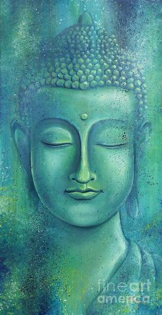 """Live with no sense of 'mine,' not forming attachment to experiences."" ~ The Buddha, Sutta Nipata Art by: Gayle Utter Title: Within the Depths of Silence ♥ lis Buddha Face, Buddha Zen, Buddha Buddhism, Buddhist Art, Gautama Buddha, Budha Painting, Buddha Artwork, Buddha Drawing, Art Asiatique"