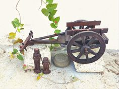 Bullock cart Bullock Cart, Wood Toys, Farm House, Objects, Photo And Video, Antiques, Kitchen, Vintage, Furniture