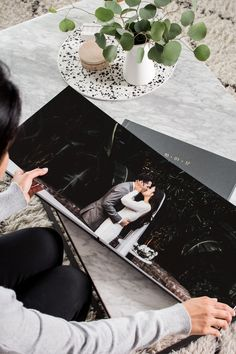 Crafted from ultra-thick pages that lay open for panoramic effect, the Artifact Uprising Layflat Album displays the story of your big day like little else can. Wedding Photo Books, Wedding Photo Albums, Wedding Book, Our Wedding, Wedding Photos, Wedding Stuff, Wedding Album Cover, Wedding Album Layout, Wedding Album Design