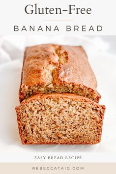 Easy and delicious, this is The Best Gluten-Free and Dairy-Free Banana Bread Recipe. An ultra-soft and tender loaf, with a sweet banana flavor. Dairy Free Banana Bread, Dairy Free Yogurt, Easy Banana Bread, Easy Bread Recipes, Banana Bread Recipes, Dairy Free Recipes, Banana Bread Ingredients, Brunch Recipes, Brunch Ideas