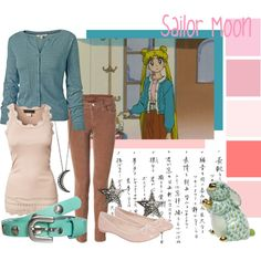 """Sailor Moon"" by vampychan on Polyvore.  (Johanna would wear this.)"