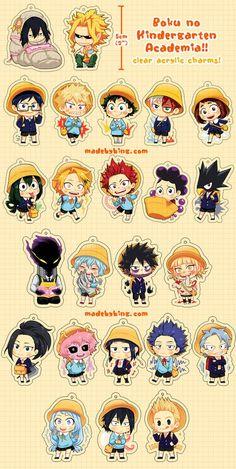 Boku no Hero Academia - Kindergarten Acrylic Charms My Hero Academia Merchandise, My Hero Academia Episodes, Anime Merchandise, My Hero Academia Memes, Buko No Hero Academia, Hero Academia Characters, My Hero Academia Manga, Anime Characters, Character Drawing