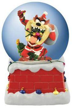 Looney Tunes Santa Taz Tazmanian Devil Christmas Snow Globe >>> Want additional info? Click on the image.