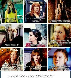 Companions about the Doctor. #doctorwho