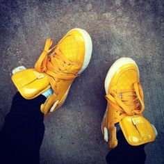 Yellow shoes for spring